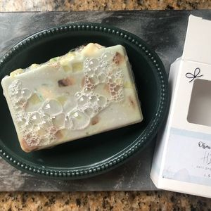 His soap with Beautiful Recycled Soap Dish